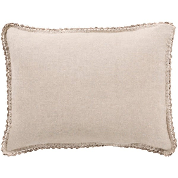 "36"" Serene Soft Gray Colored Envelope Closure King Size Pillow Sham"