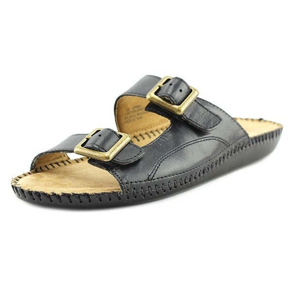 Auditions Womens Spring Leather Open Toe Casual Slide Sandals - 7