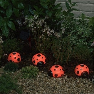 Smart Solar 3656MRM4 Solar Ladybugs - 4-Piece Set
