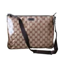 Gucci Unisex Crystal GG Fabric Laptop Sling Messenger Bag 278301 - One size