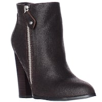Chelsea & Zoe Nadine Pointed Toe Ankle Fashion Boots, Dark Brown - 6 us
