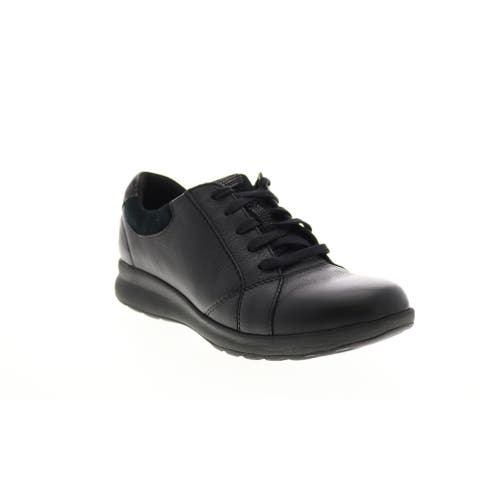 Clarks Un Adorn Lace Black Womens Lifestyle Sneakers