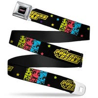 The Powerpuff Girls Full Color Black White Pink The Powerpuff Girls Seatbelt Belt