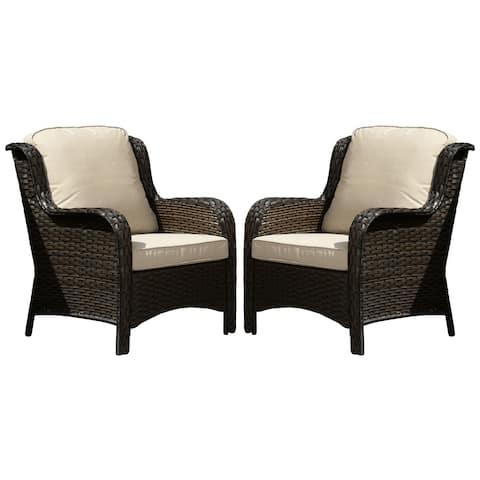 Ovios Patio Furniture 2-piece Wicker Single Chairs