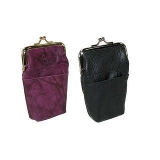 Buxton Women's Leather Basic & Fashion Framed Cigarette Cases (Pack of 2) - One size