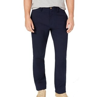 Link to Club Room Mens Chino Pants Navy Blue Size 38X30 Straight Leg Stretch Similar Items in Big & Tall