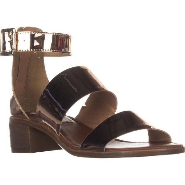 Steve Madden Daly Mule Flat Sandals, Rose Gold