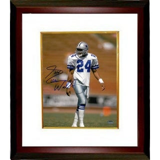 Everson Walls signed Dallas Cowboys 8x10 Photo Custom Framed (white jersey)