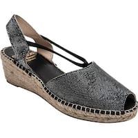 André Assous Womens Dainty Peep Toe Casual Espadrille Sandals