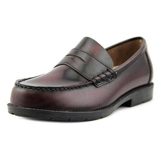 Academie Gear Josh Round Toe Leather Loafer