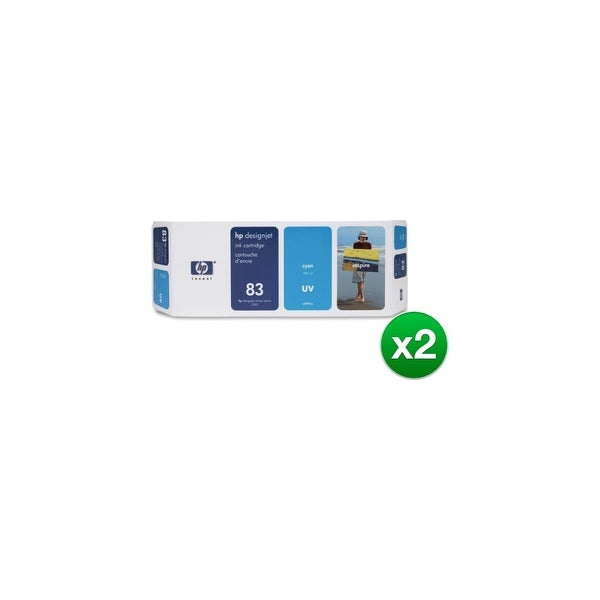 HP 83 680-ml Cyan DesignJet UV Ink Cartridge (C4941A) (2-Pack)