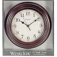 Westclox 7504079 33883P 9.5 Round Wood Wall Clock