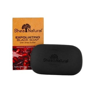 Shea Natural Black Soap with Shea Pomegranate 5-ounce