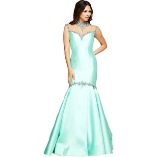 Mac Duggal Womens Rhinestone Prom Formal Dress