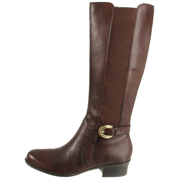 Naturalizer Womens Arness Leather Almond Toe Knee High Riding Boots