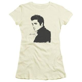 Elvis Black Paint Juniors Short Sleeve Shirt