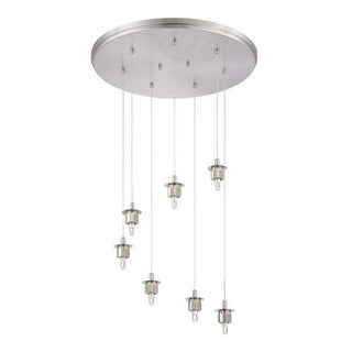 Forecast Lighting FA0064836 A La Carte 7 Light LED Pendant from the Sparkle Collection - Base Only - Satin Nickel