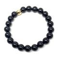 Black Onyx 'Zoe' Stretch Bracelet 14k over Sterling Silver - Thumbnail 2