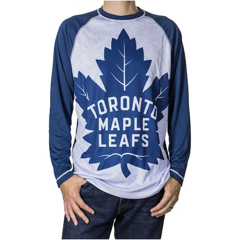 Calhoun Men's NHL Big Logo Long Sleeve Performance Shirt - Toronto Maple Leafs
