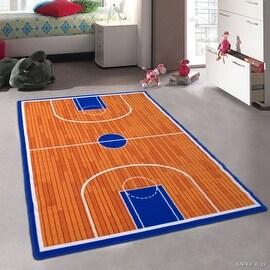 "Allstar Kids / Baby Room Area Rug. Basketball Court for Basketball Player Kids Room (4' 11"" x 6' 11"")"