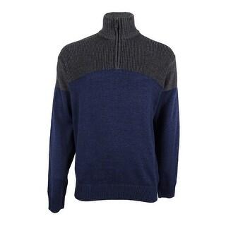 Tricots St. Raphael NEW Blue Mens Size XL 1/2 Zip Turtleneck Sweater