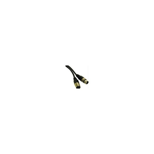 C2G 40060B Pro-Audio XLR Male to Female Cable w/ 12 feet Length