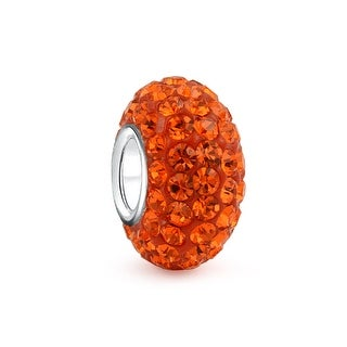 Bling Jewelry Sterling Silver Orange Bead Charm
