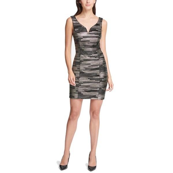 Shop Guess Black Gold Women S Size 8 Metallic Sweetheart