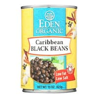Eden Foods Organic Caribbean Black Beans - Case of 12 - 15 oz.