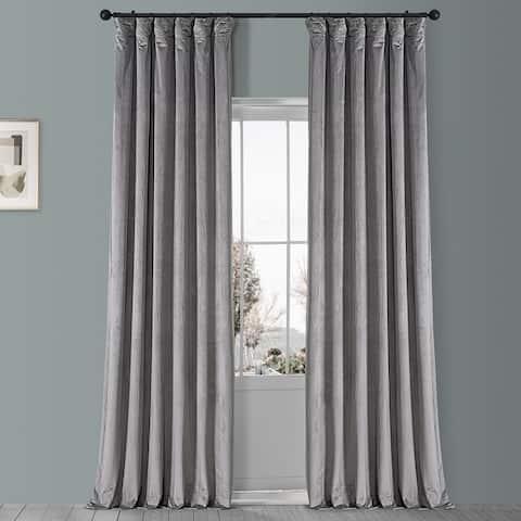 Exclusive Fabrics Plush Velvet Curtain (1 Panel)