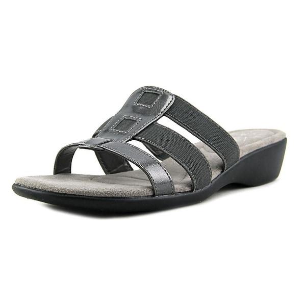 Life Stride Talk Women W Open Toe Synthetic Gray Slides Sandal