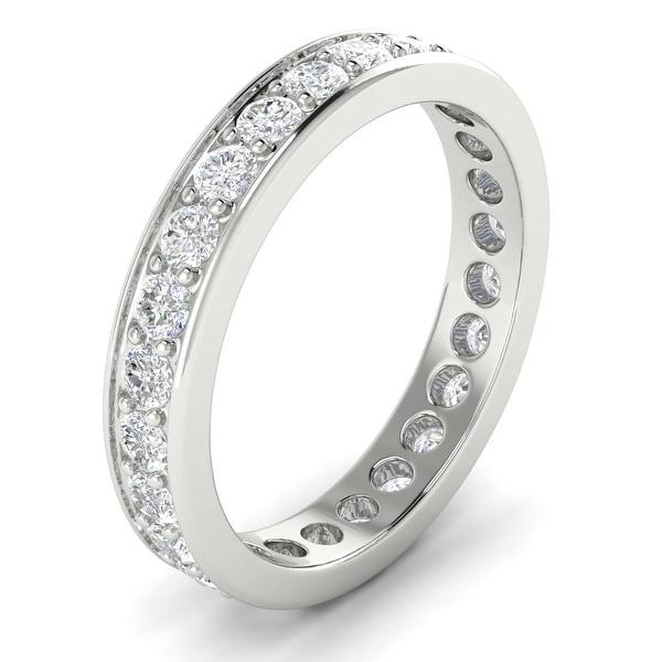 14KT Gold Round Cut Diamond Curved Wedding Ring 1.40 CTW