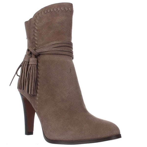 Coach Jessie Mid-Calf Tassel Boots, Light Feather Gray