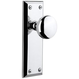 "Grandeur FAVFAV_PSG_238  Fifth Avenue Solid Brass Passage Door Knob Set with Fifth Avenue Knob and 2-3/8"" Backset"