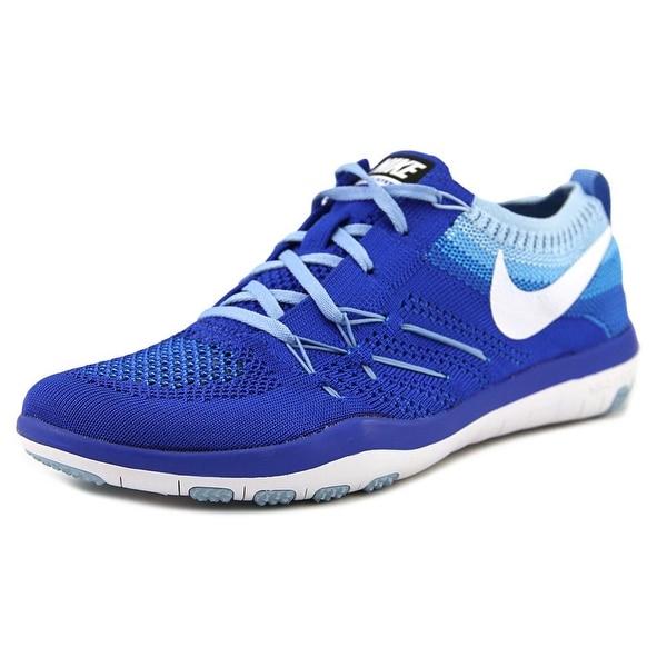 2b82578ff0b2e Nike Free Tr Focus Flyknit Women Round Toe Synthetic Blue Tennis Shoe
