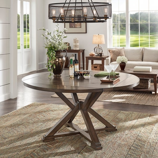 Garrison Espresso Convertible Dining Table with Lazy Susan by iNSPIRE Q Modern. Opens flyout.