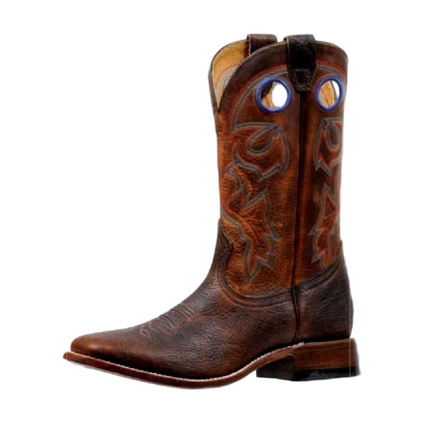 Boulet Western Boots Mens Stockman Rider Pull Holes Old Town