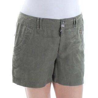 INC $50 Womens New 1409 Green Rhinestone Casual Short 14 B+B