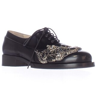 No21 8960A Embroidered Oxfords - Black