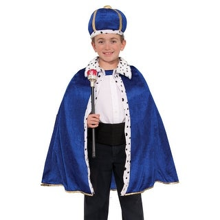 Royal Blue King Robe and Crown Toddler Costume