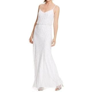 Adrianna Papell Womens Evening Dress Beaded Sleeveless - 8
