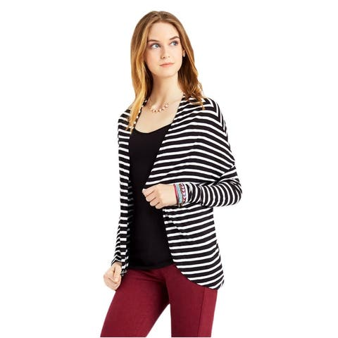 Aeropostale Womens Striped Jersey Shrug Sweater
