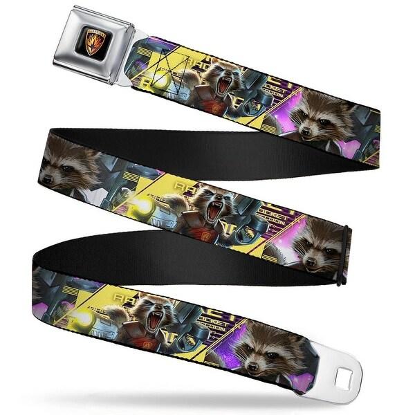 Guardians Of The Galaxy Evergreen Guardians Badge Full Color Black Gold Seatbelt Belt