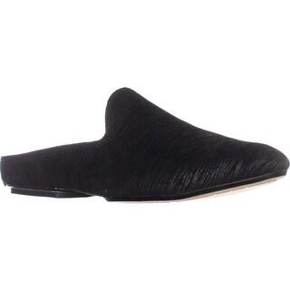 Donald J Pliner Rue Flat Slip-On Mules, Black/Black
