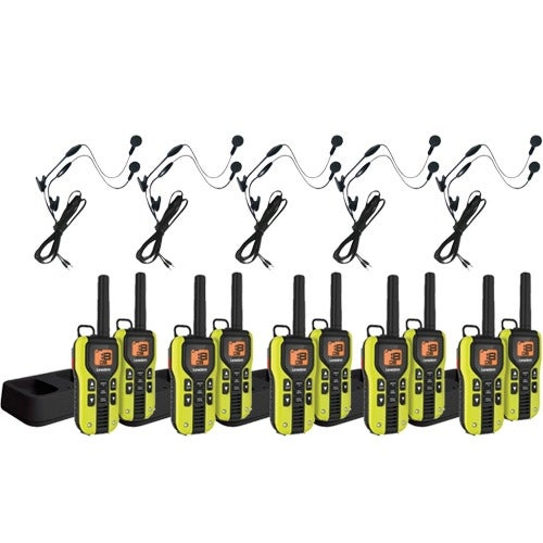 Uniden GMR4060-2CKHS (10-pack) Two Way Radios w/ Earbud Headsets & Inline Mics