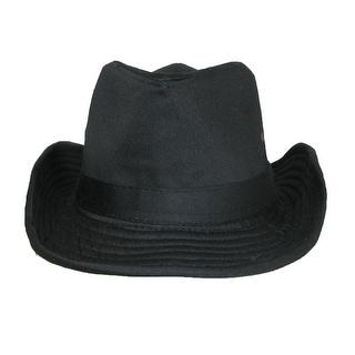 CTM® Men's Cotton Lightweight Outback Hat - Black