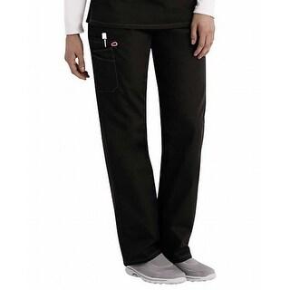 Scrub Zone NEW Deep Black Mens Size Medium M Unisex Scrub Pants Stretch 856