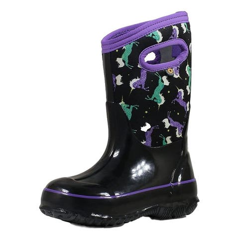 Bogs Outdoor Boots Girls Classic Unicorns Pull On Waterproof