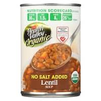 Health Valley Organic Soup - Lentil, No Salt Added - Case of 12 - 15 oz.