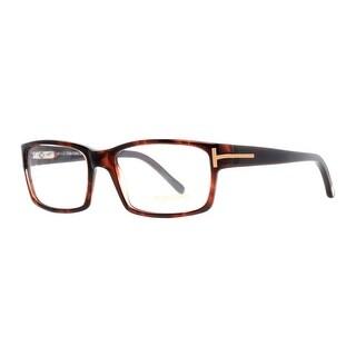 TOM FORD Rectangular TF 5013/V Unisex 052 HAVANA Havana Clear Eyeglasses - 54mm-17mm-135mm